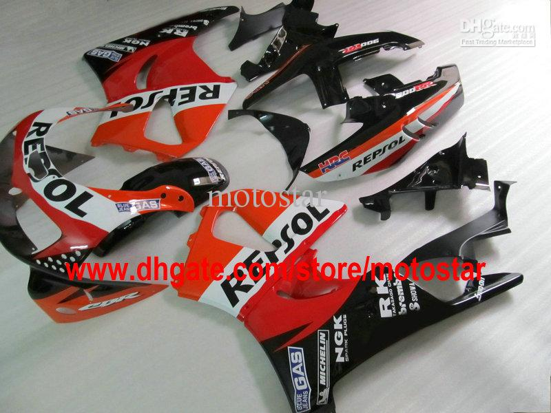 Honda CBR900RR 893 1996 1997 CBR893 95 96 97 CBR893RRのためのRepsol ABSフェアリングキット