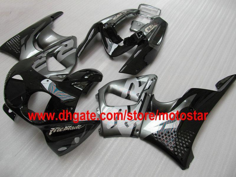 schwarz grau Verkleidungssatz für HONDA CBR900RR 893 1992 1993 1994 CBR900 893RR CBR893 92 93 94 CBR893RR