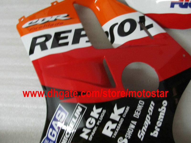 HONDA CBR900RR 893 1992 1993 1994에 대한 REPSOL 페어링 키트 CBR900 893RR CBR893 92 93 94 CBR893RR