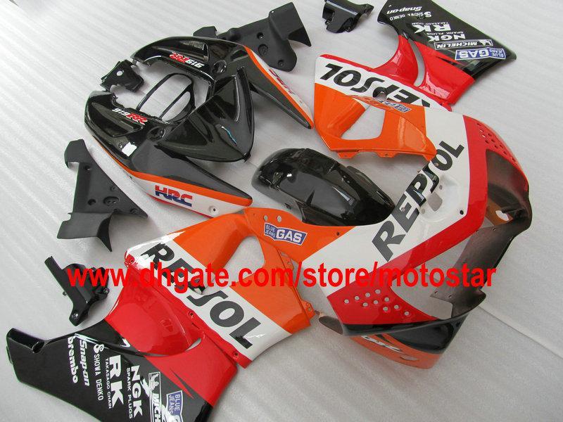 REPSOL ABS 혼다 용 페어링 키트 CBR900RR 919 1998 1999 CBR900 919RR CBR919 98 99 CBR919RR 바디 수리 페어링 세트