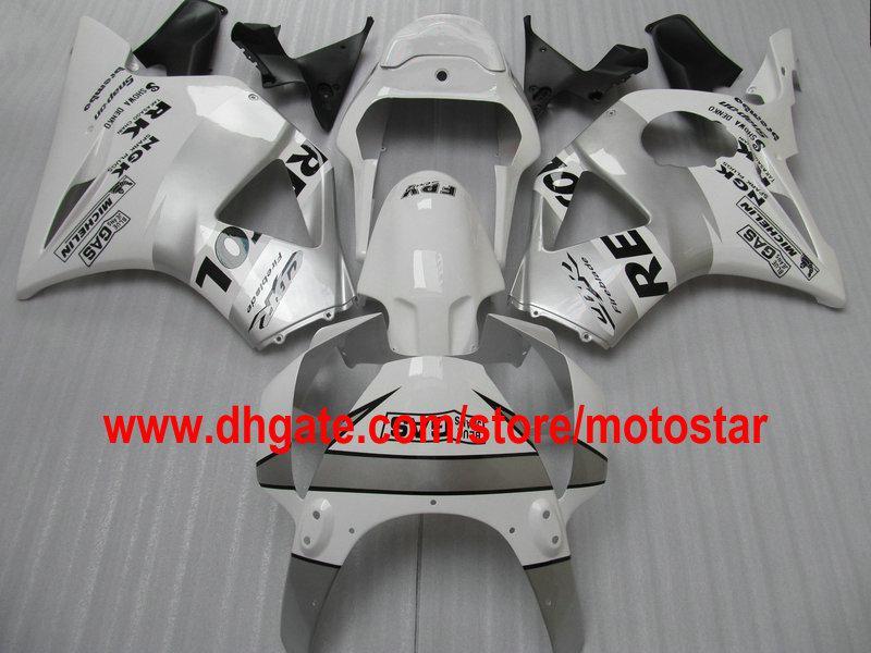 ホワイトシルバーレストランフェアリングキットホンダCBR900RR 954 2003 2002 CBR900 954RR CBR9004 02 03 CBR954RRオートバイロードレースフェアリゾーン