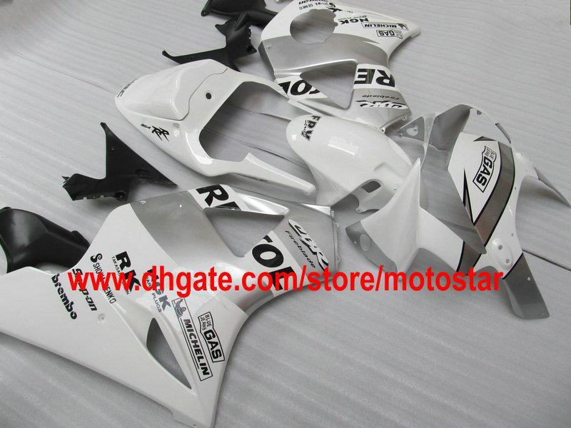 White silver REPSOL fairing kit for HONDA CBR900RR 954 2003 2002 CBR900 954RR CBR954 02 03 CBR954RR motorcycle road racing fairings