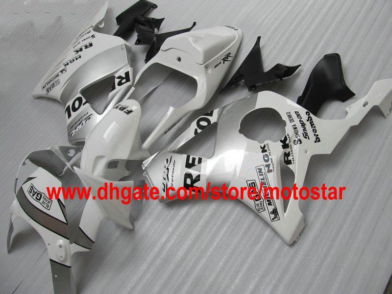 REPSOL-Verkleidungskit weiß silber für HONDA CBR900RR 954 2003 2002 CBR900 954RR CBR954 02 03 CBR954RR Motorrad-Rennradverkleidung