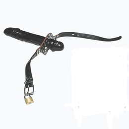 Wholesale Double Dildo Gags - bdsm Double-Ended Dildo Gag (Rubber Penis & Real Cow Leather Belt