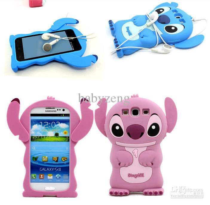 samsung galaxy s3 cases. cool lovely stitch 3d silicone case for samsung galaxy s3 iii i9300.with plastic bag customized cell phone otter cases from babyzeng,