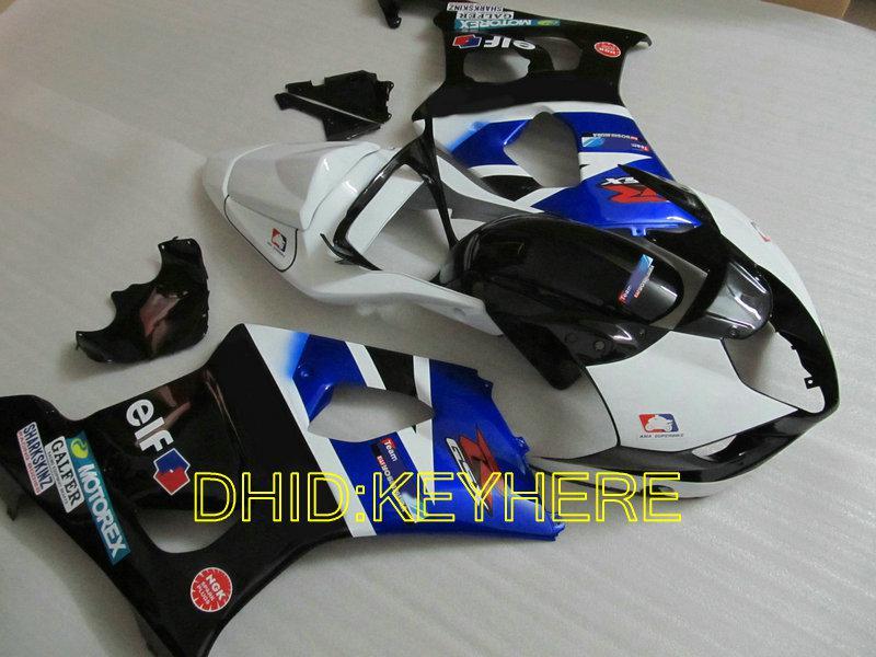 鈴木03 04 GSXR1000 GSX-R1000 2004 2003オートバイのBodyWorkingの販売青/白/ BLK MOTO FAIERING