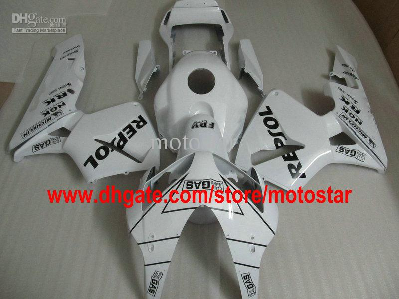 white REPSOL Injection molded custom Fairing for HONDA CBR600RR 2003 2004 CBR 600RR CBR600 F5 03 04