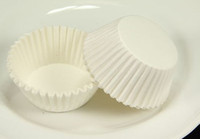 WHITE PLAIN FLUTED REYNOLDS CUPCAKE LINER MUFFIN CASE HOLDER...