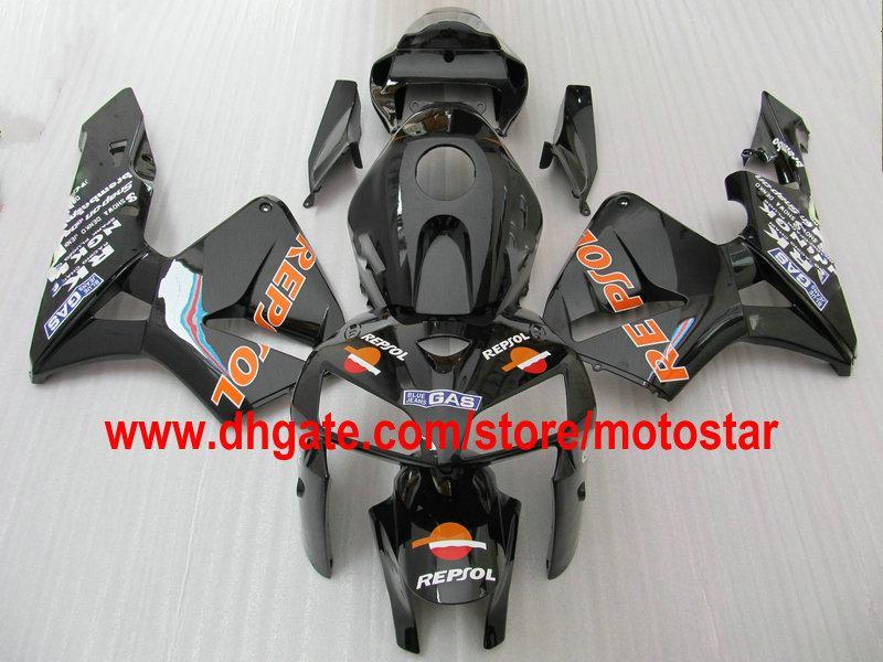 REPSOL personalizado na carroçaria preta do kit de carenagem PARA CBR600RR F5 2005 2006 CBR 600 RR 05 06 CBR600 600RR