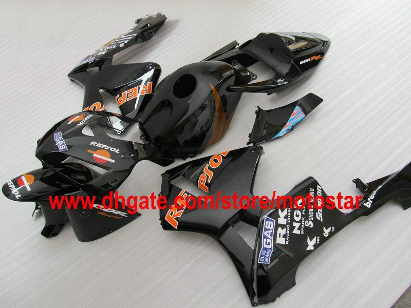 Benutzerdefinierte REPSOL in schwarz Verkleidung Kit Karosserie für CBR600RR F5 2005 2006 CBR 600 RR 05 06 CBR600 600RR