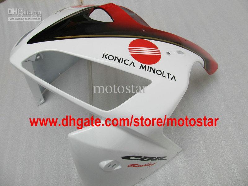 Furos de conjunto completo de injeção ABS vermelho branco para CBR600RR F5 2005 2006 CBR 600 RR 05 06 kits de carenagem CBR600 600RR