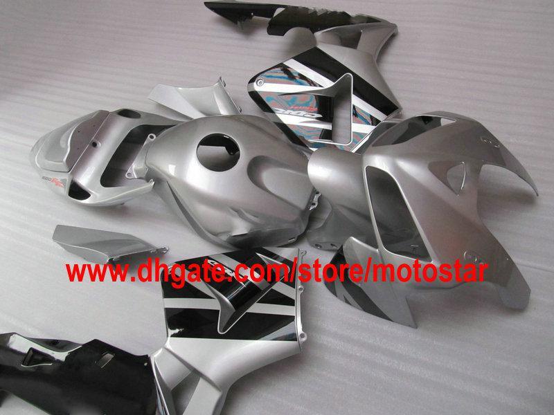 ABS preto prateado Conjunto completo de carenagem para injeção CBR600RR F5 2005 2006 CBR 600 RR 05 06