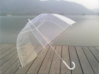 Wholesale Open Rain - Transparent - Clear Dome-Birdcage - contracted Manual open an umbrella AAA