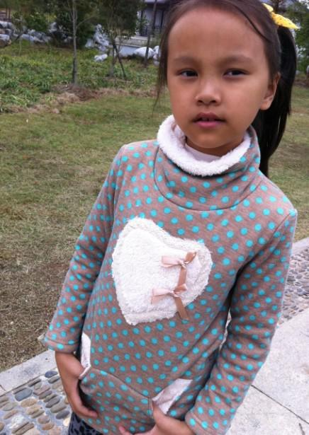 Gray Turtle Neck Pullover Little Girl S Autumn Winter