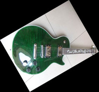 Wholesale Dragon Guitars - New Arrival 2012 Brand New electric guitar chrome hardware DRAGON inlay Green Burst 110401-05
