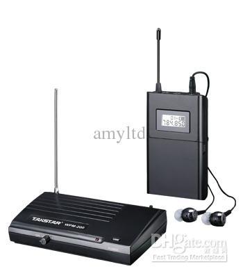 Ny Takstar WPM-200 i örat Professionell scen Wireless Monitor System Mottagare sändare hörlurar
