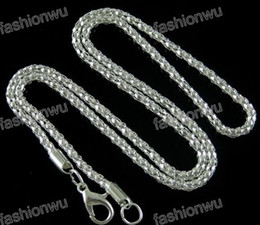 Wholesale Popcorn Silver Chain - 2017 hot sell 120pcs lot Str 2.4MM Silver Plated Corn Chain Necklace Necklaces & Pendants Chains