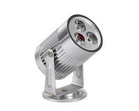 yüksek güçlü bahçe spotları toptan satış-Perakende yüksek güç 3 W Beyaz / Sıcak Beyaz Bahçe LED Sel spotLight 110-240 V Tavan LED aşağı lambaları Manzara Duvar Yard Yolu Gölet LED Çim Lamba