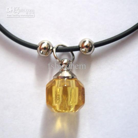 Crystal vials perfume sample vials fragrance pendant perfume necklace vials Aroma bottles