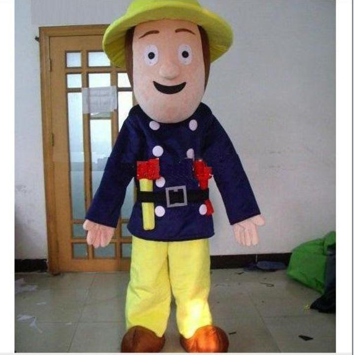 2012 new professional fireman sam adult mascot costume halloween cartoon fancy dress suit butterfly costumes gothic costumes from goodsoft 25126 dhgate - Fireman Halloween