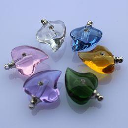 Wholesale Crystal Vials - Glass fragrance bottle Scent bottles fragrance pendant vials perfume bottle Aroma fragrance vials