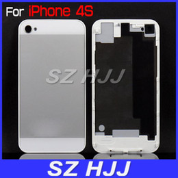 Wholesale Iphone4s Back Cover - Back Glass Housing for iPhone4S 4GS Full Back Cover Replacement iPhone 5 Style
