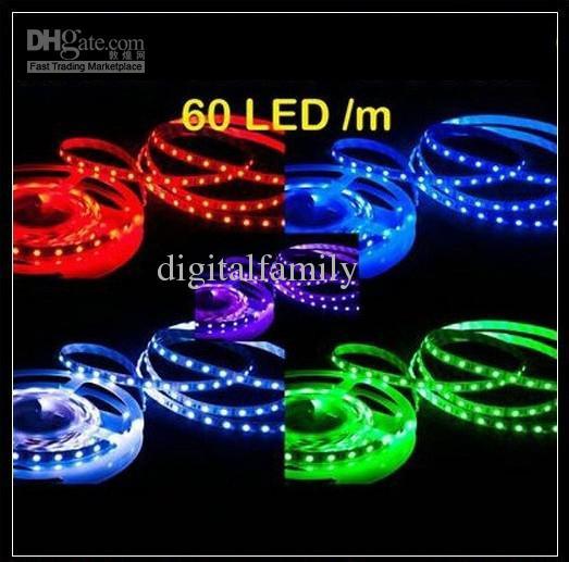 5 M Brilhante Ultra-Branco LED Strip azul verde vermelho 5050 SMD À Prova D 'Água Flexível 300 Luz DC 12 V