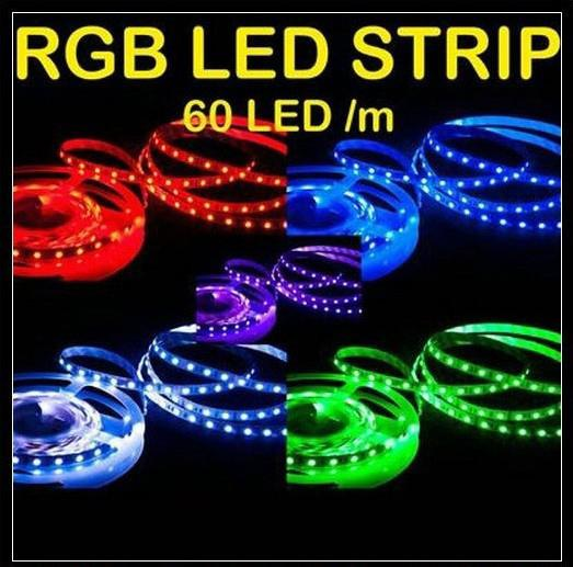 Regali di Natale Led Strip Light RGB 5M 5050 SMD 300Led Impermeabile IP65 + 44Key Controller + 12 V Alimentazione con scatola Pacchetto al dettaglio DHL nave