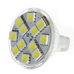 Wholesale Gu4 Led Bulbs - MR11 GU4 120-144LM LED Bulb 12 5050 SMD Warm White  White energy-saving led Lamp spotlight H9157
