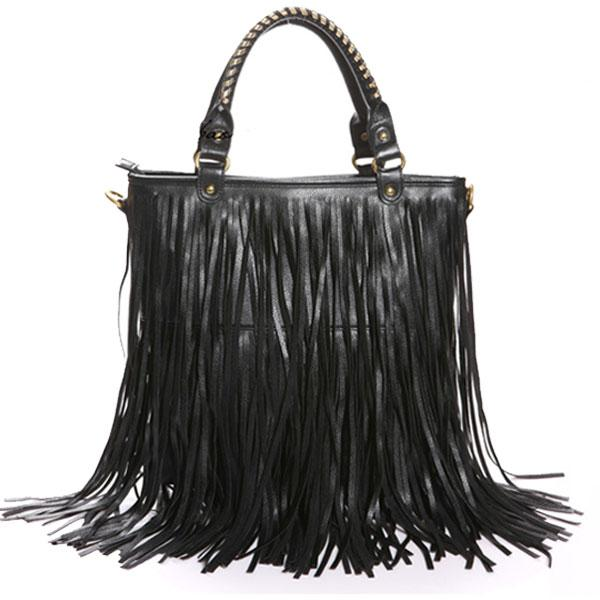 2c012ca16e High Quality Totes Printed Handbag New Fashion Women Punk Tassel Fringe  Handbag Shoulder Bag Black Satchel Bags Crossbody Purses From Handbag321