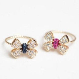 Wholesale Cheap Gift Bows - Bow ring Band Rings diamond engagement rings Jewelry ring finger cheap Price Free Shipping