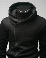 assassins creed mens jacke großhandel-Qltrade_3 Heiße Verkäufe Mens Zip schlank gestaltete Hoodie Jacke Assassins Creed schwarz Top Coat