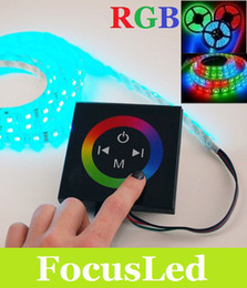 Wholesale Smd Led Dimmer - Amazing 5050 SMD 300Leds 5M 12V Led RGB Strip Light Waterproof IP65 + Touch Panel RGB Slippy Dimmer