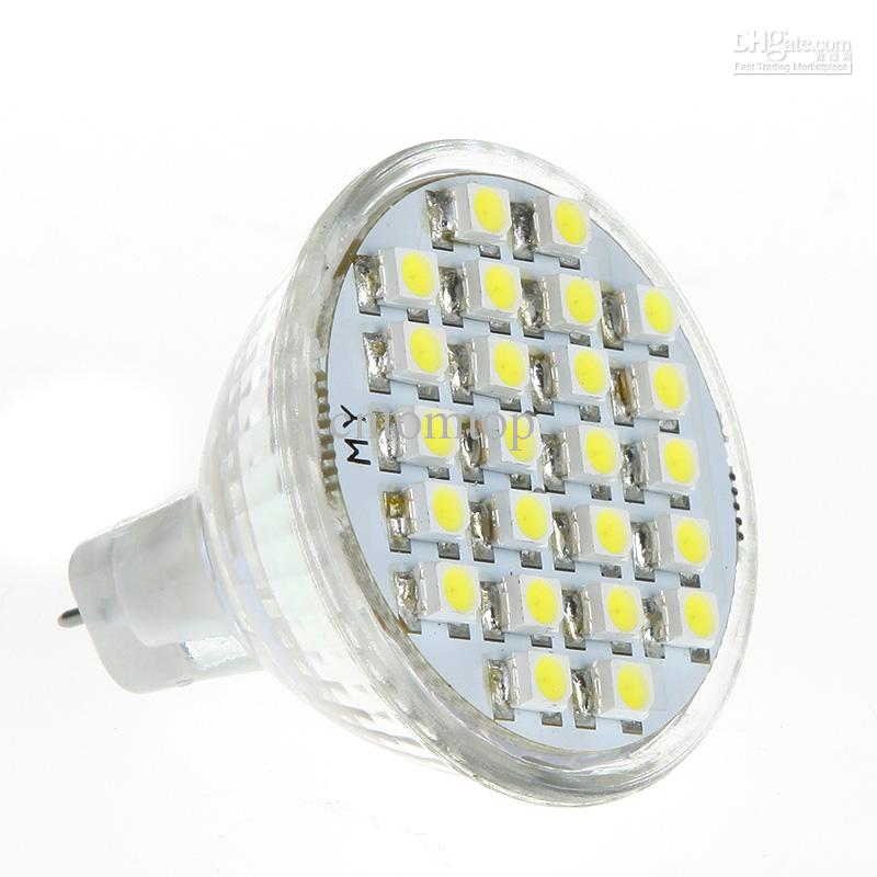 1.5W MR11 GU4 LED Bulb 24 3528 1210 SMD White light Lamp spotlight ...