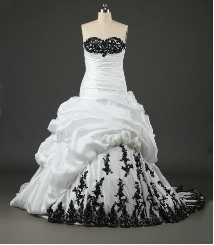 black and white wedding dresses for sale cheap lace black white embroidered wedding dress 1824
