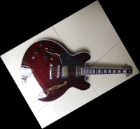 Wholesale Left Hand Semi Guitar - New China Guitar Lefty Jazz Semi Hollow 335 Top Quality wine deep red In Left Handed11 0513-20