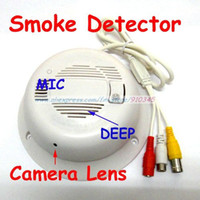 Wholesale Hidden Smoke Alarm - Real Smoke Detector Alarm CCTV Camera ,420TV 3.7mm Lens Working Smoke Detector with Hidden Camera