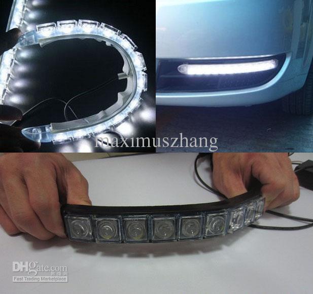 Großhandel 2 Stücke Flexible 9 Led Lichtleiste Auto Drl Objektiv Led ...