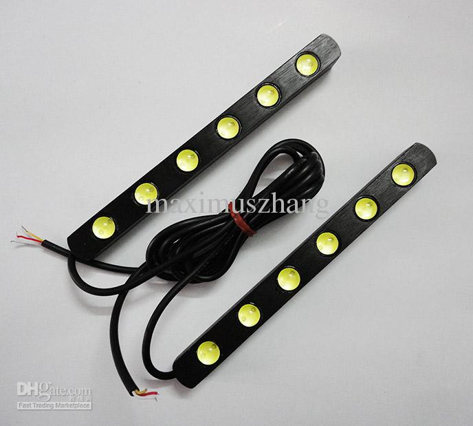 2x drl 6 led light strip 12v high power auto led lights waterproof 2x drl 6 led light strip 12v high power auto led lights waterproof lens universal car daytime lights drl lighting drl lights from maximuszhang aloadofball Image collections