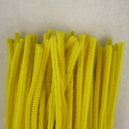 """500unit Yellow Chenille Craft Stems Creative Arts Chenille Stem Pipe Cleaners 12"""" 30cm For Children handmade creative materials"""