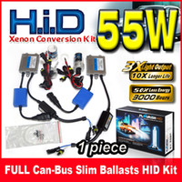 Wholesale Single H4 Hid - 1 Set 55W Full Canbus Slim Ballasts HID Xenon Conversion Kit 12V Single Beam H1 H3 H4 H7 9004 9005 9006 9007 All Color For BMW Benz Audi VW