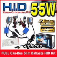 kit de conversão xenon hid 12v venda por atacado-4 Conjuntos 55 W FULL Can-bus Reatores Finos HID Xenon Conversion Kits 12 V Para BMW Benz Audi Feixe Único