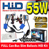 Wholesale Hid Set For Conversion - 4 Sets 55W FULL Can-bus Slim Ballasts HID Xenon Conversion Kits 12V For BMW Benz Audi Single Beam