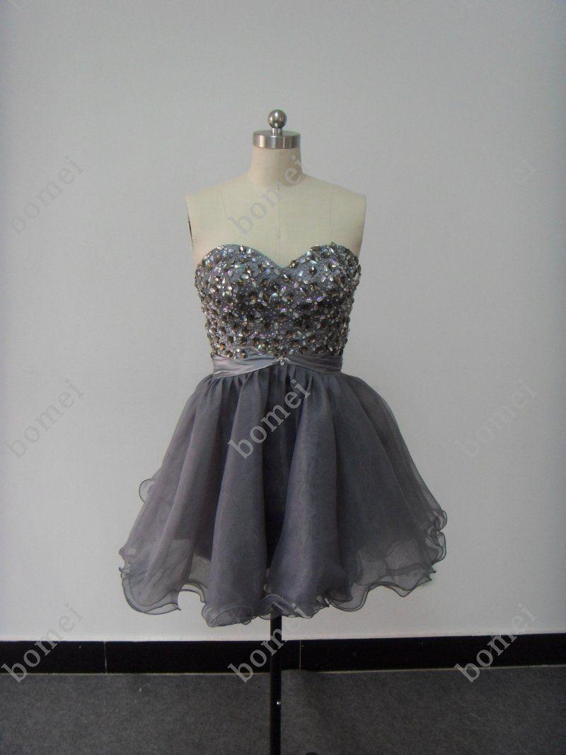 Dark-Gray Prom Dresses