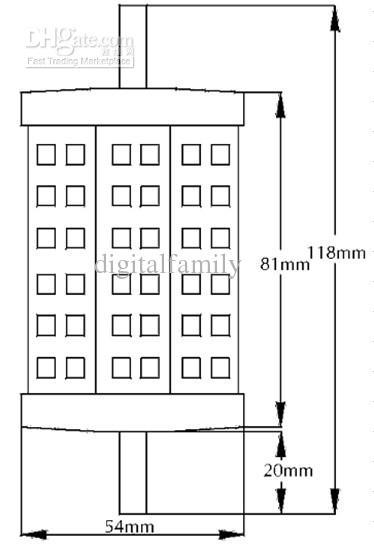 R7S 5630 SMD llevó el poder más elevado de las luces de calle de la prenda impermeable IP65 de 5W 8W 10W 13W 85-265V alta calidad