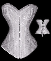 Wholesale Steel Bone Corset Dress - free shipping Brocade Lace up Full Steel Bones Basque Corset Bustier Dancer Fancy Dress Outfit Costume Hen corset 2615 bla