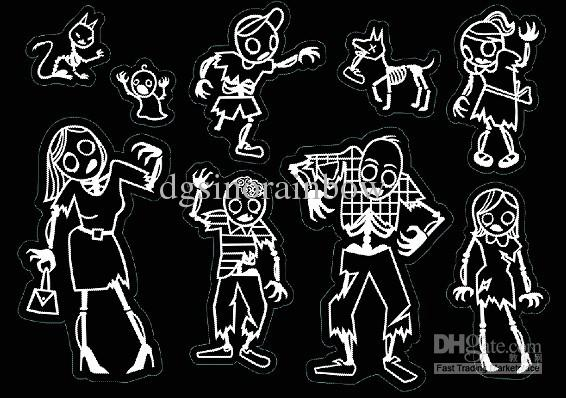 9 characters white color zombie family car stickers vinyl graphics decals vinyl lettering decals from dgsinorainbow 128 53 dhgate com