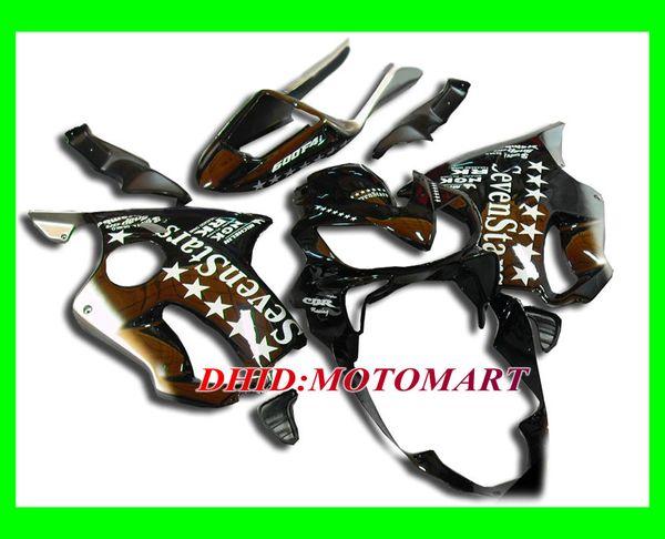7 Stars black Fairing kit for HONDA CBR600F4I 04 05 06 07 CBR600 F4I 2004 2005 2006 2007 CBR 600F4I Fairings set
