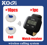 Wholesale DHL freeshipping Hot sell Pager calling system restaurant paging system Can show total coming calls