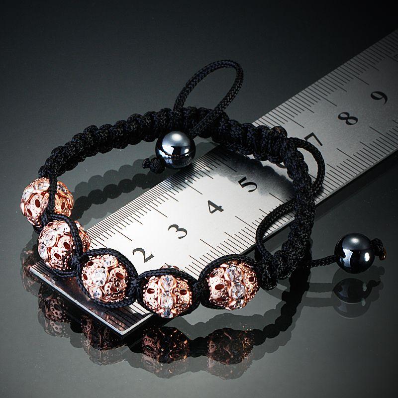 Shambala Woven Bracelets Transparent Bling Crystal Beads Balls Jewllery Adjustable Macrame Handmade Charms Selected Quality C1